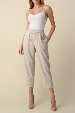 Vision Linen Cropped Pants - Product List Image