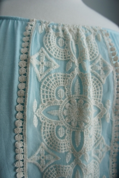 Vision Off-The-Shoulder Lace-Accent Tunic - Alternate List Image