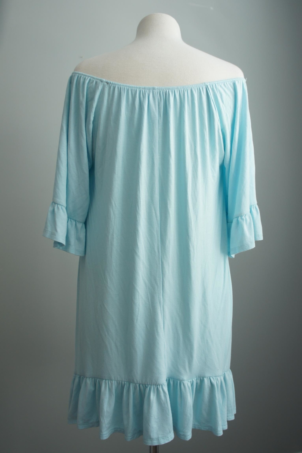 Vision Off-The-Shoulder Lace-Accent Tunic - Front Full Image