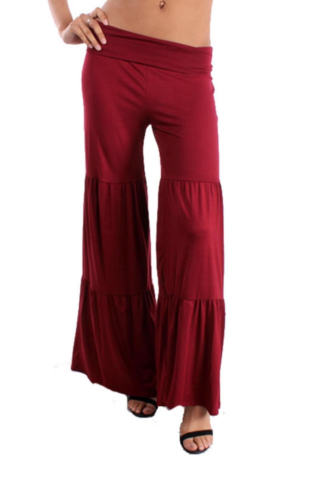Vision Three-Tier Palazzo Pants - Front Cropped Image