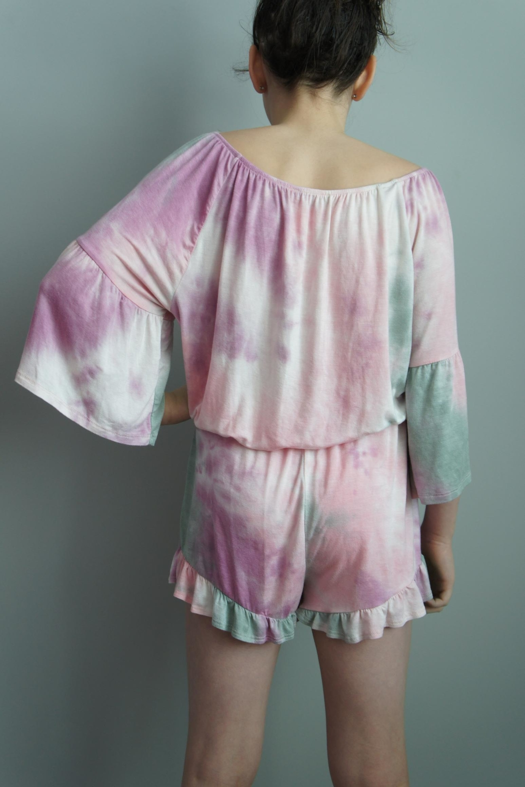 Vision Tie-Dye Romper Shorts - Front Full Image