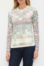 Whimsy Rose Vista Blue Sweater-knit Top - Product Mini Image
