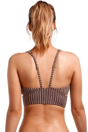 Vitamin A Cigar Stripe Bikini - Side cropped