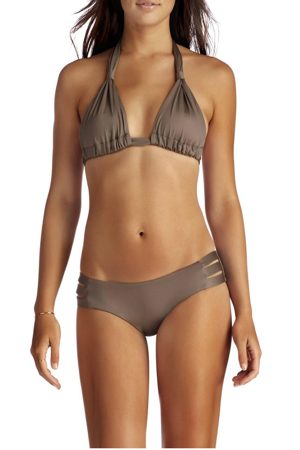 Vitamin A Emelia Triple Strap Bottom - Side Cropped Image