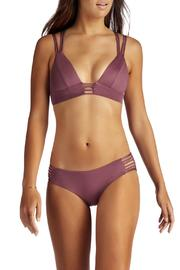 Vitamin A Plum Braid Bralette - Front cropped