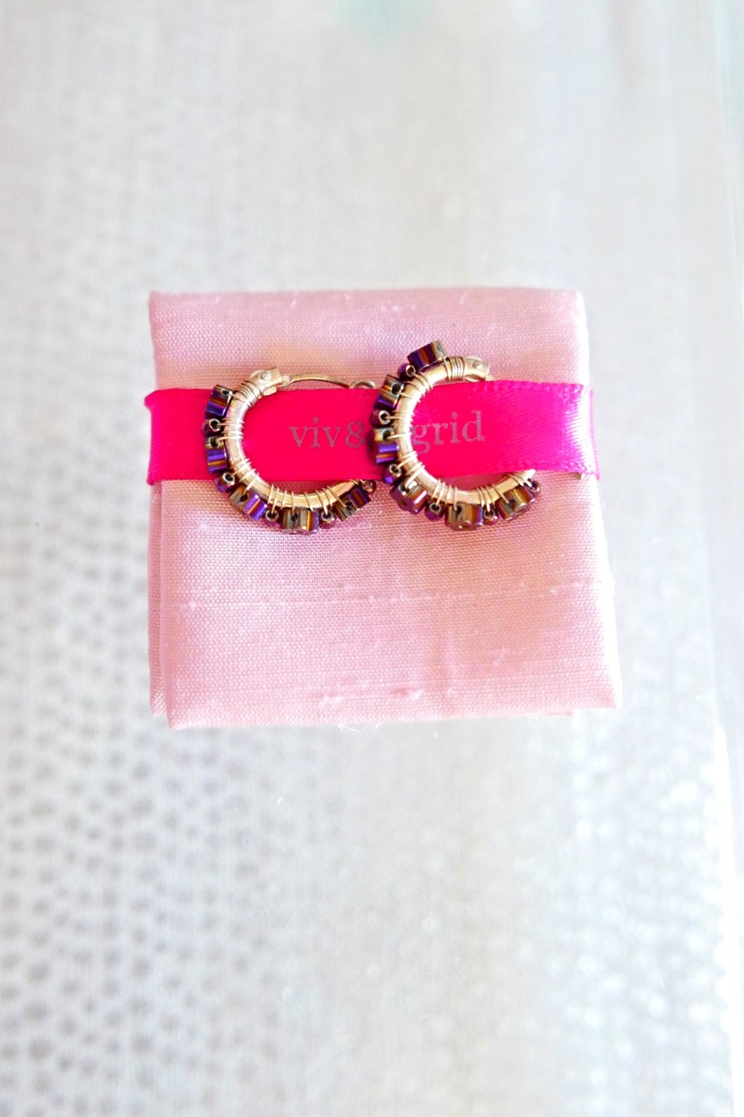 viv&ingrid Daisy Hoop Earrings - Front Full Image
