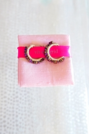 viv&ingrid Daisy Hoop Earrings - Front full body