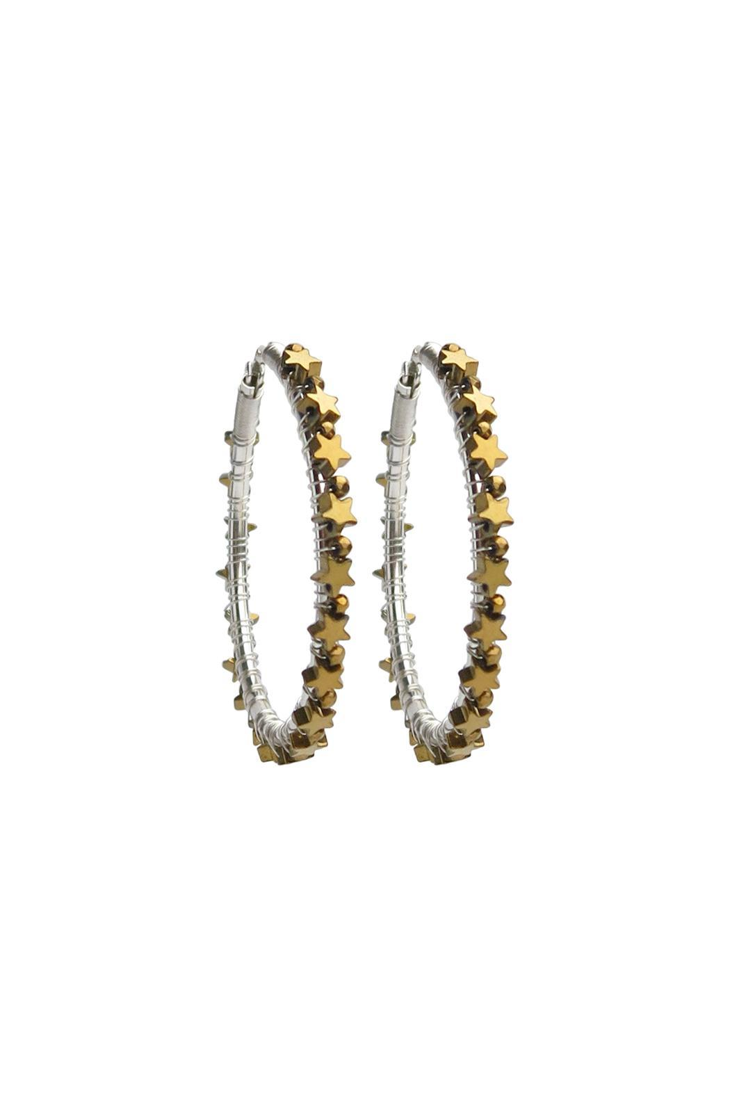 viv&ingrid Gold Large Star Hoops - Main Image