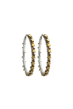 viv&ingrid Gold Large Star Hoops - Alternate List Image