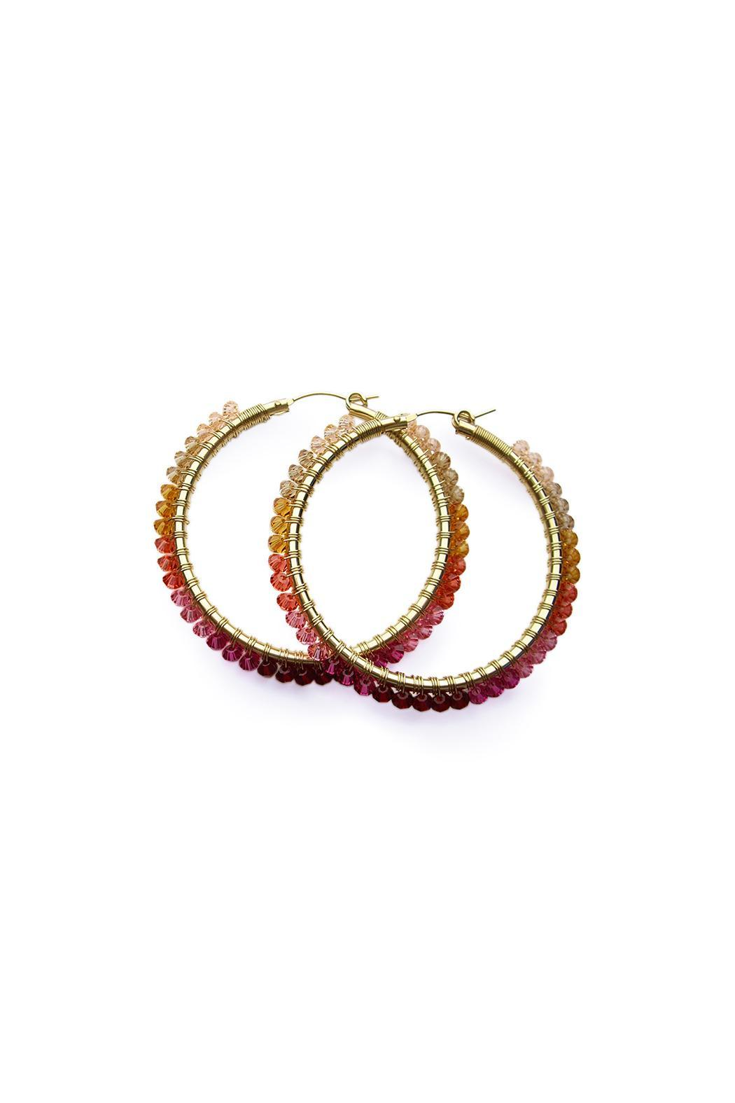viv&ingrid Ombre Wrap Hoops - Front Cropped Image