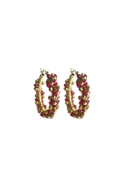 viv&ingrid Rose Garland Hoops - Product Mini Image