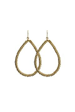 viv&ingrid Spiral Teardrop Hoops - Alternate List Image