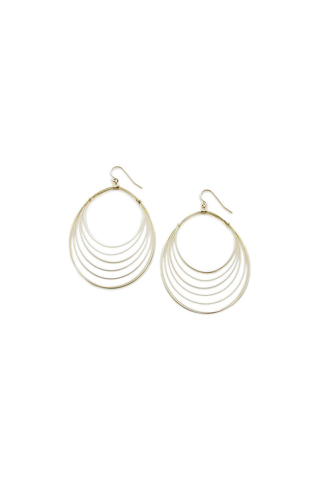 viv&ingrid Teardrop Layered Hoops - Main Image