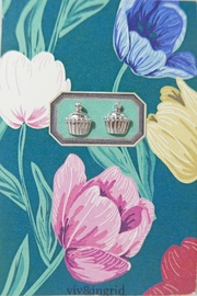 Viv & Ingrid Cupcake Earrings - Product Mini Image