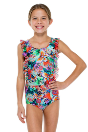 Luli Fama Viva Cuba Girls Ruffle One Piece - Product Mini Image