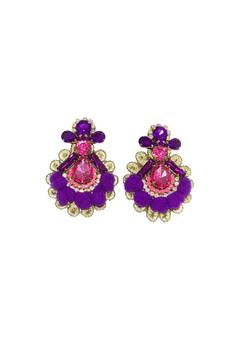 vivi design Mini Pom-Pom Earrings - Alternate List Image