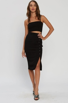Shoptiques Product: Vivian Button Skirt