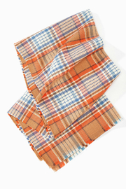 Look by M Vivid plaid scarf - Front cropped