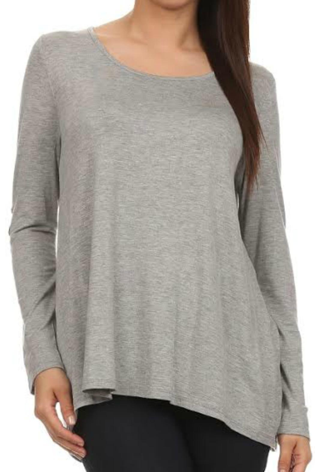 Vivo clothing elbow patch top from idaho by garment