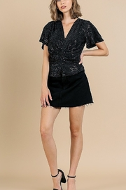 Umgee  VNECK SEQUIN TOP - Product Mini Image