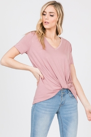 Emma's Closet VNECK TIE FRONT TOP - Product Mini Image