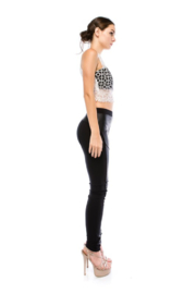 virgin only VO Lace Crop Top - Side cropped
