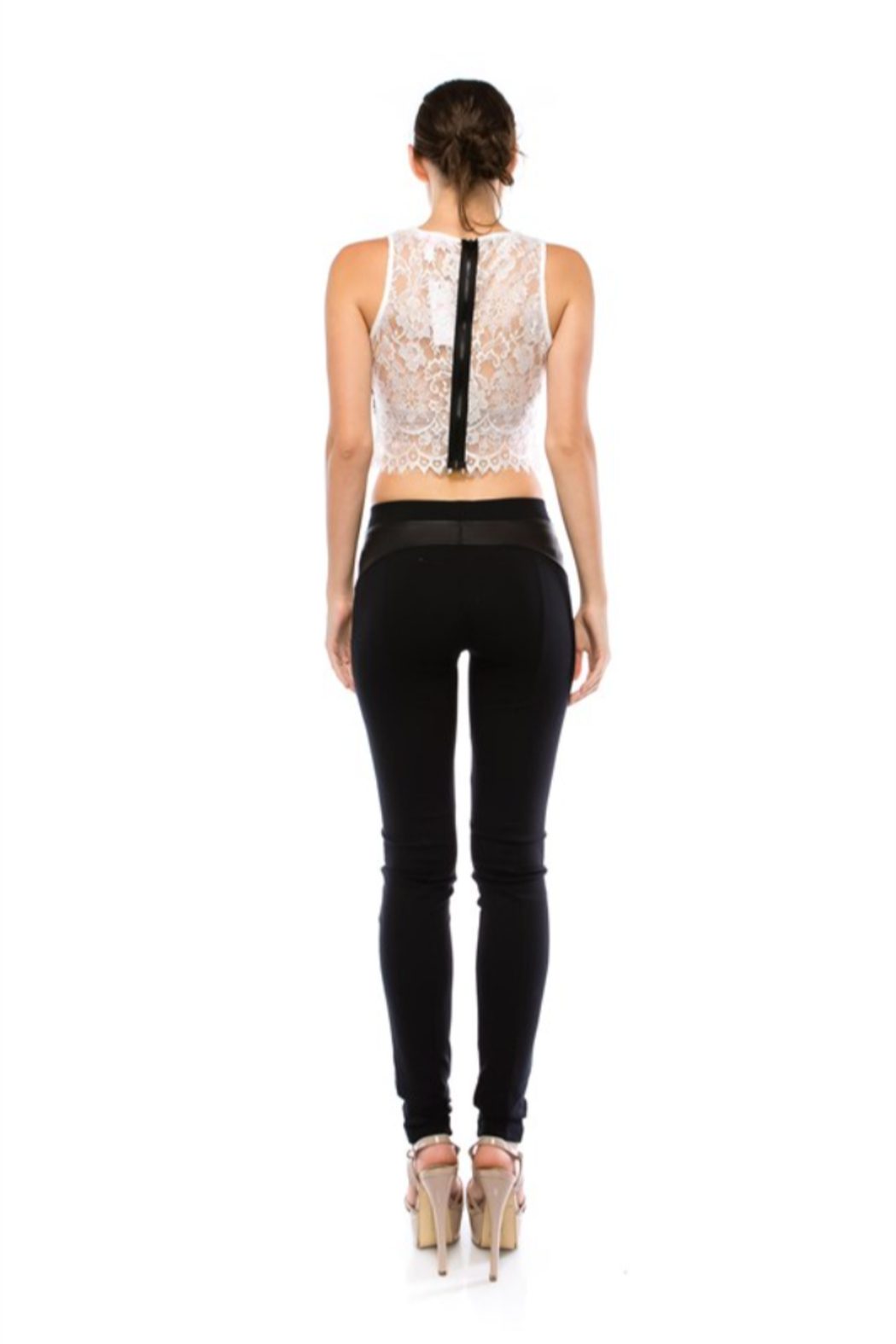 virgin only VO Lace Crop Top - Front Full Image