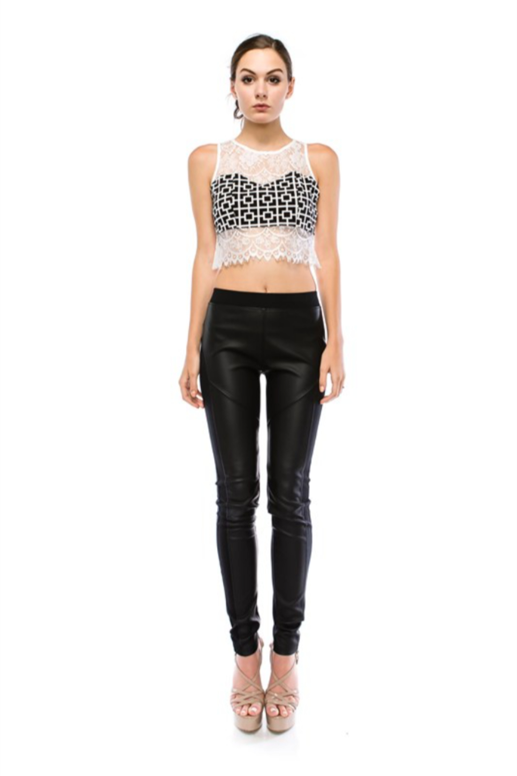 virgin only VO Lace Crop Top - Main Image