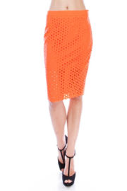 virgin only VO Laser Cut Pencil Skirt - Product Mini Image