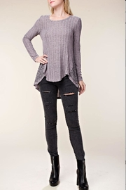 Vocal Angel Ribbed Top - Front full body
