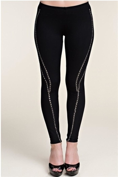 Vocal Black Studded Leggings - Product List Image