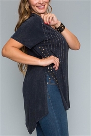 Vocal Black Studded Top - Front full body