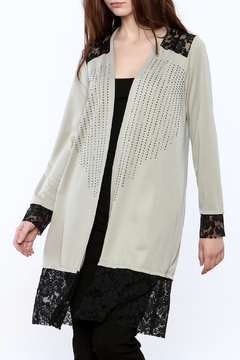 Vocal Grey Long Cardigan - Product List Image