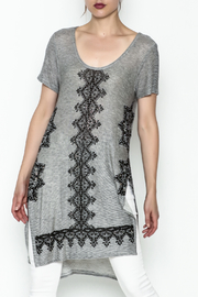 Vocal Light Grey Tunic Top - Product Mini Image