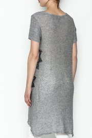 Vocal Light Grey Tunic Top - Back cropped