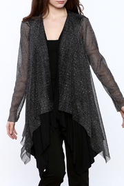Vocal Sheer Shimmery Cardigan - Product Mini Image