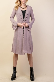 Vocal Apparel British Button Duster - Front cropped