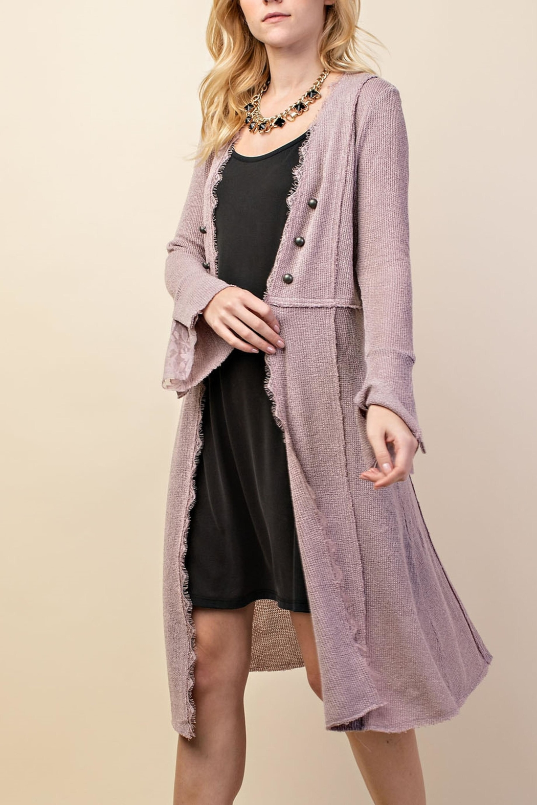 Vocal Apparel British Button Duster - Side Cropped Image