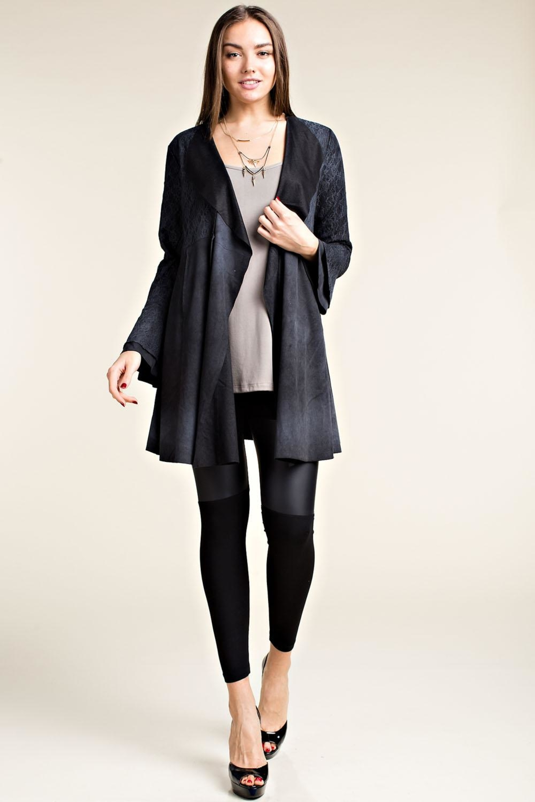 Vocal Apparel Brushed Suede Jacket - Front Cropped Image