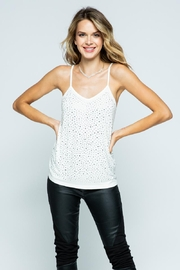Vocal Apparel Camisole Top With Stones - Product Mini Image