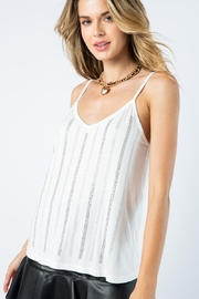 Vocal Apparel Camisole Top With Stones - Other