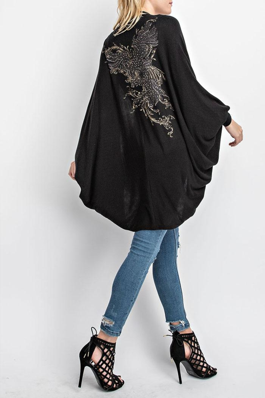 Vocal Apparel Cocoon Cardigan Eagle-Stones - Front Full Image