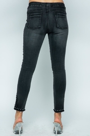 Vocal Apparel Denim With Slits And Studs - Front full body