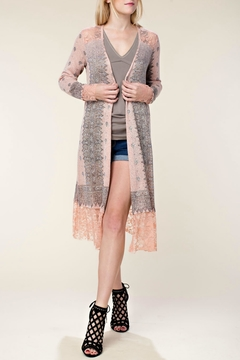 Vocal Apparel Embellished Lace Duster - Product List Image