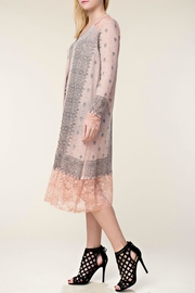 Vocal Apparel Embellished Lace Duster - Front full body