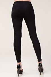 Vocal Apparel Faux Leather Leggings - Back cropped