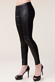 Vocal Apparel Faux Leather Leggings - Front full body