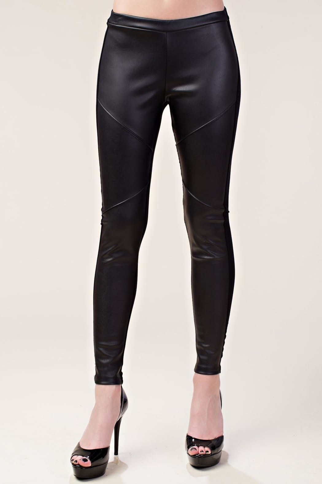 Vocal Apparel Faux Leather Leggings - Main Image