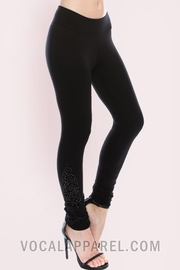 Vocal Apparel Knit Leggings With Stones - Side cropped