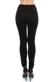 Vocal Apparel Knit Leggings With Stones - Front full body